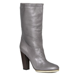 Find authentic preowned Lanvin Grey Leather Boots, size 41 (Italian) at BunnyJack, where a portion of every sale goes to charity.