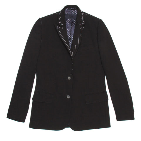 Black Wool Single Breasted Blazer