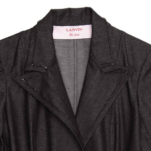 Find an authentic preowned Lanvin Dark Blue Denim Blazer, size 38 (French) at BunnyJack, where a portion of every sale goes to charity.