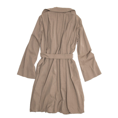 Find an authentic preowned Lanvin Taupe Classic Trench Coat, size 40 (French) at BunnyJack, where a portion of every sale goes to charity.
