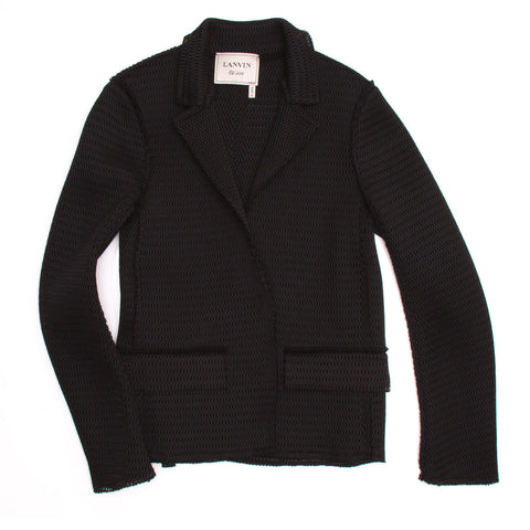 Lanvin Black Perforated Blazer, size 42 (French)