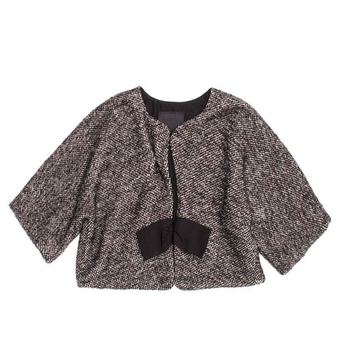 Lanvin Grey Tweed Cropped Jacket, size 40 (French)