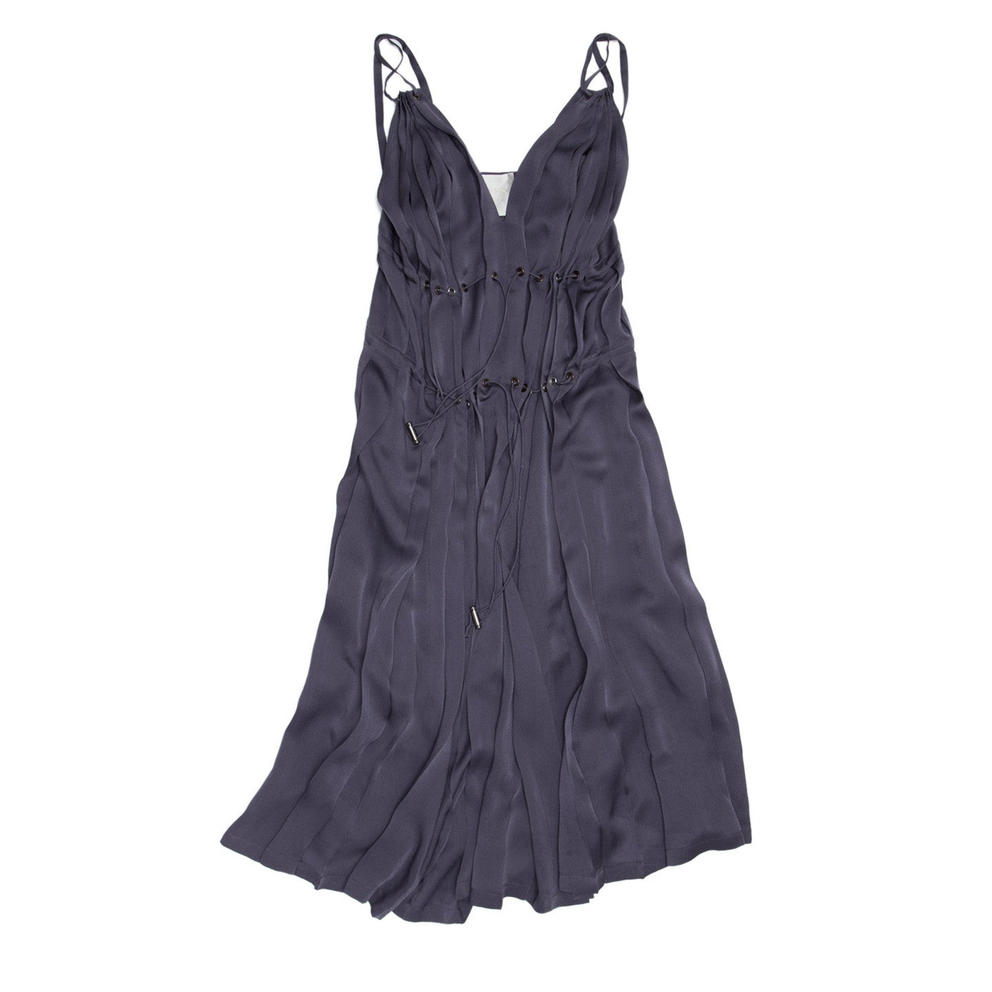 Find an authentic preowned Lanvin Lilac Silk Pleated Dress, size 36 (French) at BunnyJack, where a portion of every sale goes to charity.