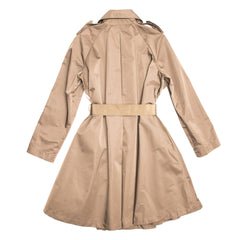 Find an authentic preowned Lanvin Taupe Bell Shape Raincoat, size 42 (French) at BunnyJack, where a portion of every sale goes to charity.