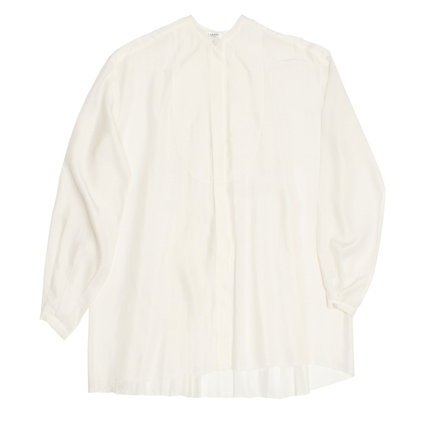 Find an authentic preowned Lanvin ivory silk shirt at BunnyJack, where a portion of each BunnyJack sale price is donated to charity.