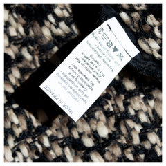 Lanvin Brown Multicolor Knit Overcoat, Size 38 (French)