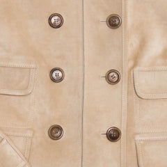 Tan Suede Cropped Jacket