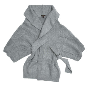 Louis Vuitton Grey Cashmere Wrap Cardigan, Size M
