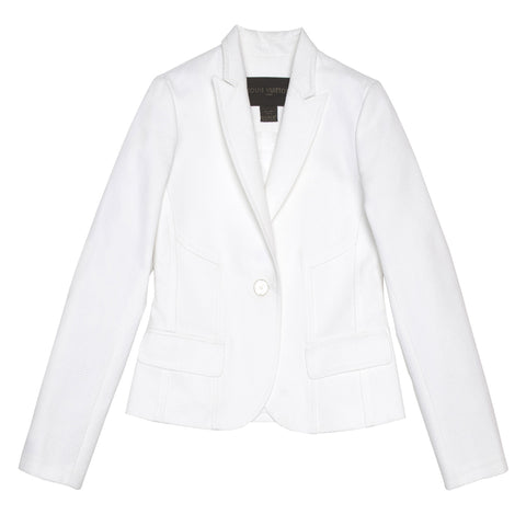 Louis Vuitton White Cotton Piquet Blazer, Size 42 (French)