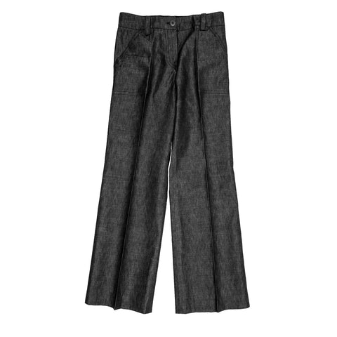 Louis Vuitton Dark Denim Palazzo Pants, Size 44 (French)
