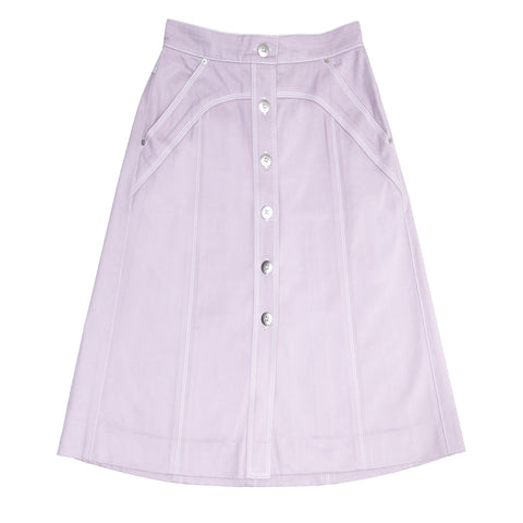 Louis Vuitton Lavender Cotton Skirt, Size 44 (French)
