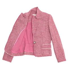 Marc Jacobs Pink Tweed Fitted Blazer