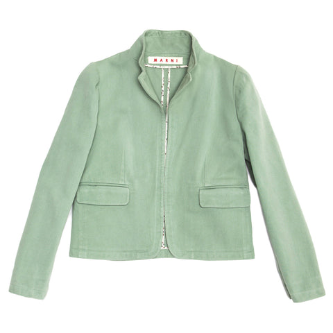 Marni Pastel Green Cotton Jacket, Size 44 (Italian)
