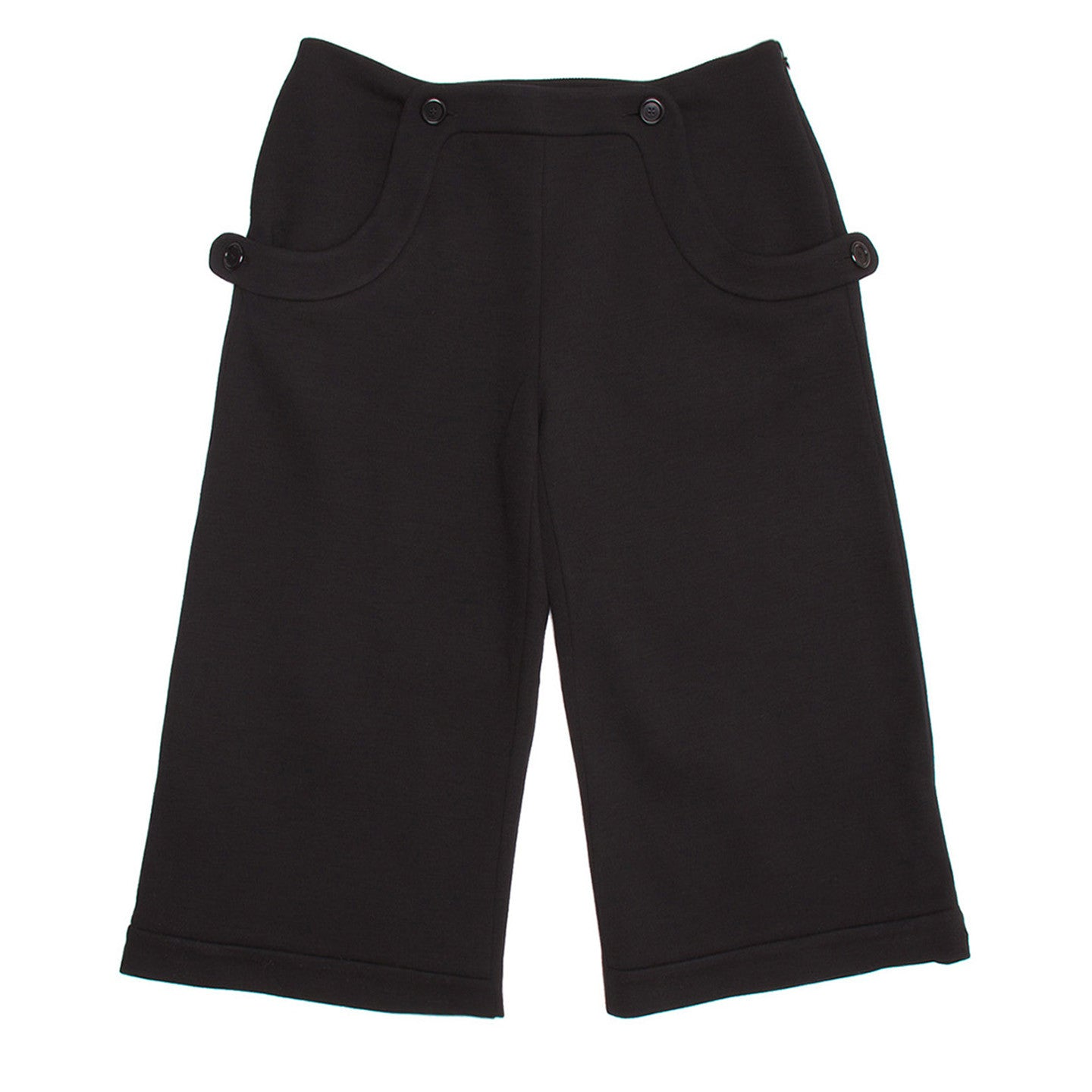 Marni Black Wool Sailor Culottes, Size 44 (Italian)