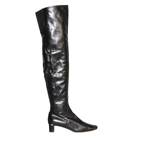 Marni Black Thigh High Boots, Size 41 (Italian)