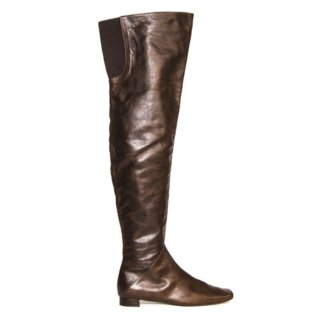 Marni Brown Thigh High Boots, Size 41 (Italian)