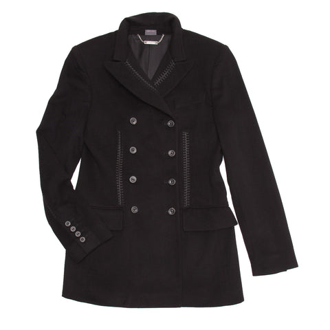 Black Cashmere Double Breasted Jacket