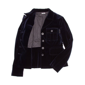 Midnight Blue Velvet Jacket