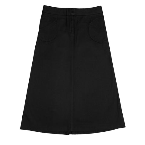 Black Thick Cotton Skirt