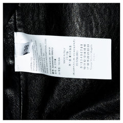 Maison Martin Margiela Black Collarless Lamb Leather Coat, Size 42 (Italian)