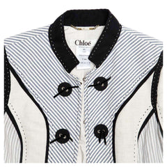 See by Chloe Multicolor Cotton & Linen Jacket, Size 42 (French)