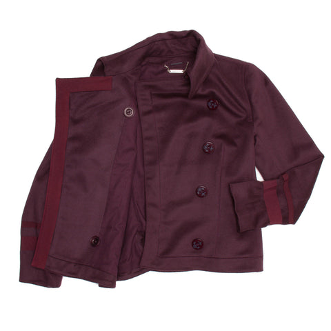 Burgundy Cashmere Peacoat Jacket