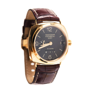 Find the ornate Officine Panerai Pink Gold & Leather Watch at BunnyJack, where each sale triggers a donation to charity.