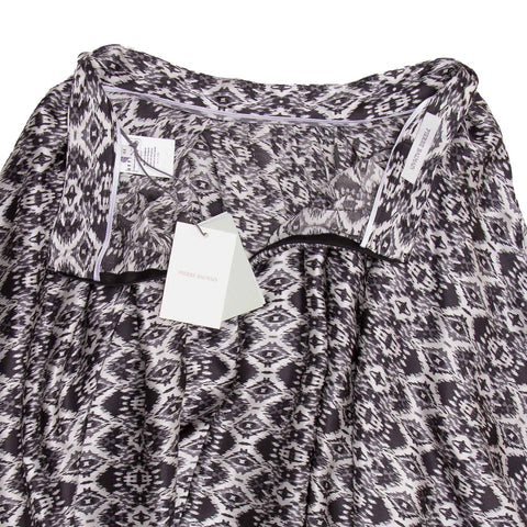Pierre Balmain Black & White Long Silk Skirt