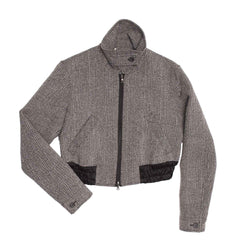 Find an authentic preowned Prada Grey Wool Bomber Jacket, size 44 (Italian) at BunnyJack, where up to 50% of each sale price is donated to charity.