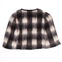 Find an authentic preowned Prada Black & White Mohair Caplet, size 44 (Italian) at BunnyJack, where up to 50% of each sale price is donated to charity.