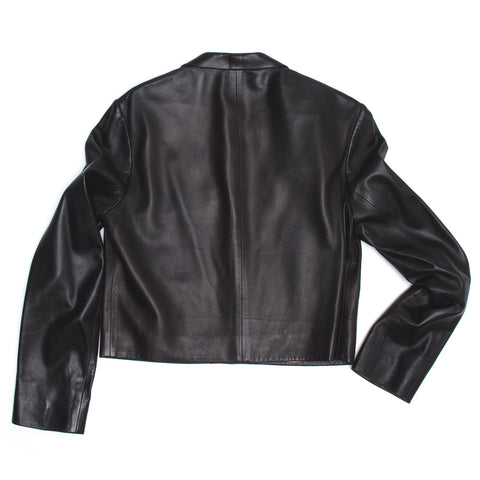 Find an authentic preowned Prada Black Nappa Leather Jacket size 42 (Italian) at BunnyJack, where up to 50% of each sale price is donated to charity.