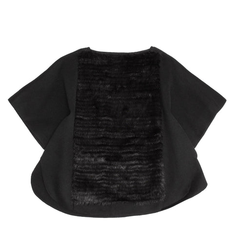 Find an authentic preowned Prada Black Angora & Mink Poncho, size 42 (Italian) at BunnyJack, where up to 50% of each sale price is donated to charity.