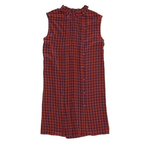 Find an authentic preowned Prada Red Plaid Shift Dress size 42 (Italian) at BunnyJack, where up to 50% of each sale price is donated to charity.