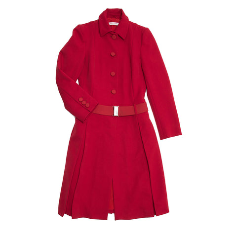 Find an authentic preowned Prada Red Quilted Tailored Coat size 44 (Italian) at BunnyJack, where up to 50% of each sale price is donated to charity.