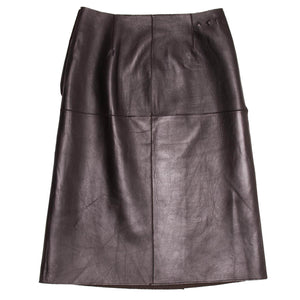 Find an authentic preowned Prada Brown Reversible Leather & Camel Skirt size 44 (Italian) at BunnyJack, where up to 50% of each sale price is donated to charity.