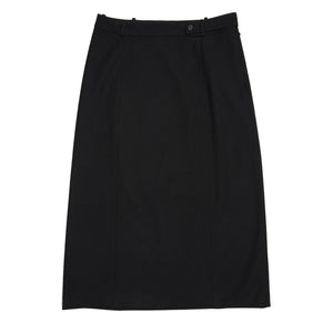 Find an authentic preowned Prada Black Wool Straight Skirt size 46 (Italian) at BunnyJack, where up to 50% of each sale price is donated to charity.