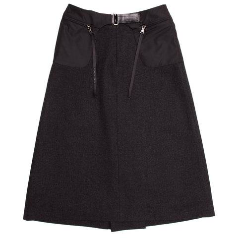 Find an authentic preowned Prada Charcoal Grey Wool Pleated Skirt size 44 (Italian) at BunnyJack, where up to 50% of each sale price is donated to charity.