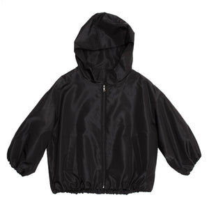 Find an authentic preowned Prada Black Quilted Hooded Bomber Jacket size 42 (Italian) at BunnyJack, where up to 50% of each sale price is donated to charity.