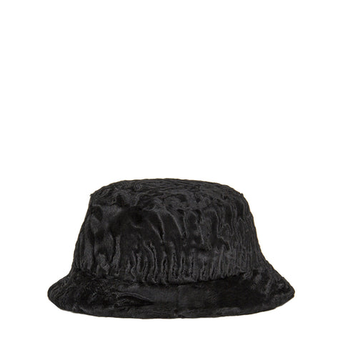 Find an authentic preowned Prada Black Broadtail Lamb Fur Hat, size Medium, at BunnyJack, where up to 50% of each sale price is donated to charity.