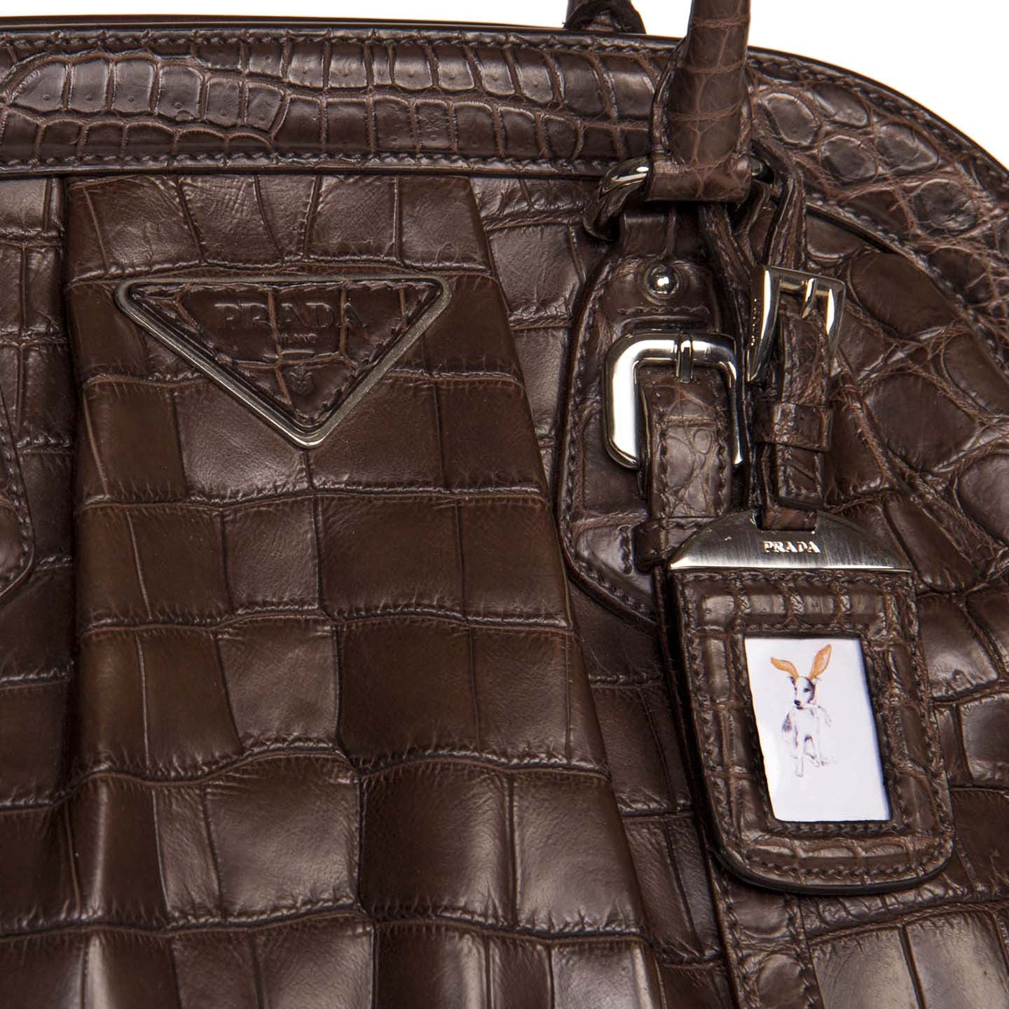 c4bbca7e71 Find an authentic preowned Prada Brown Crocodile Vintage Style Bag at  BunnyJack