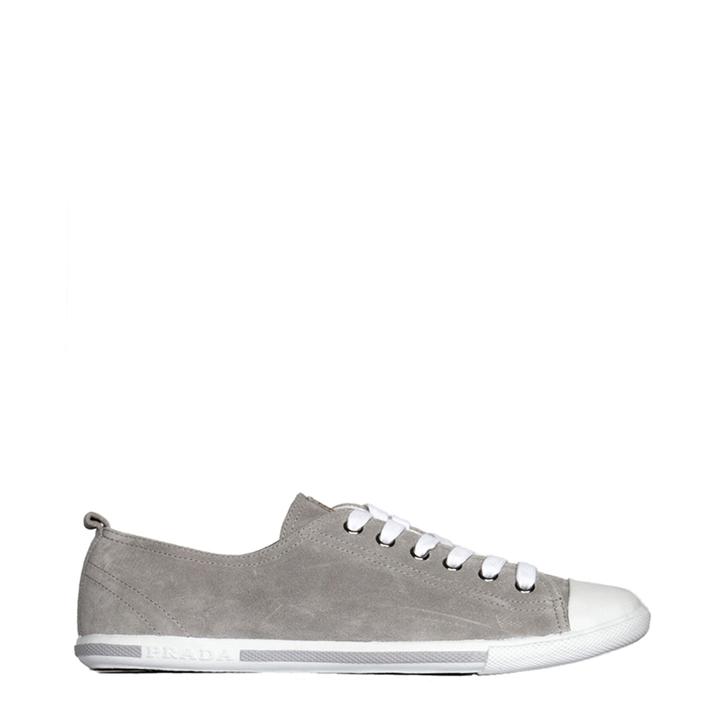 Find an authentic preowned Prada Grey Suede Sneakers, size 40 (Italian) at BunnyJack, where up to 50% of each sale price is donated to charity.