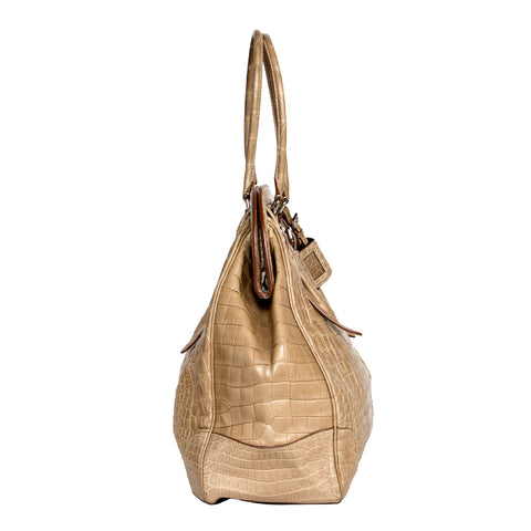 Find the Classic Vintage Prada Beige Crocodile Bag at BunnyJack.