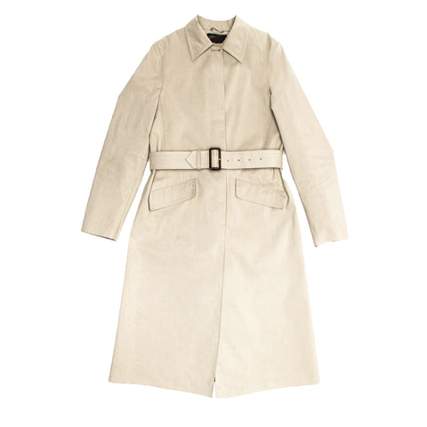 Prada Khaki Cotton Trench Coat, size 44 (Italian)