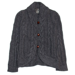 Find an authentic preowned Proenza Schouler Grey Cable Knit Short Cardigan, size L at BunnyJack.