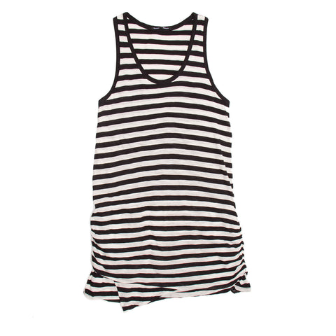 Black & Ivory Striped Tank Dress