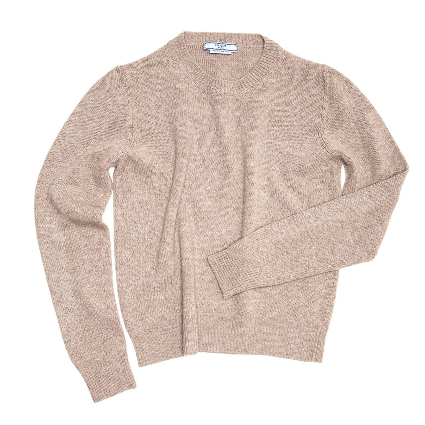 Find an authentic preowned Prada Light Brown Cashmere Sweater size 48 (Italian) at BunnyJack, where up to 50% of each sale price is donated to charity.