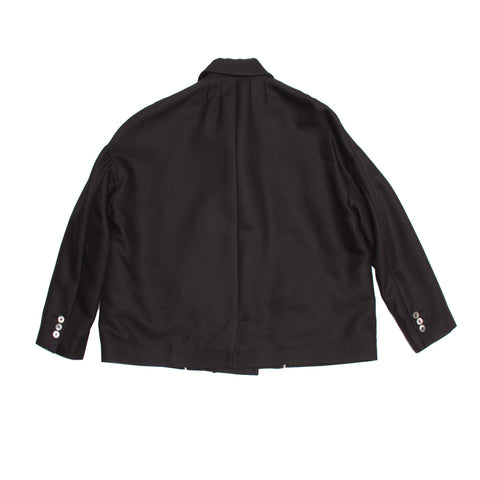 Black Double Breasted Cropped Jacket