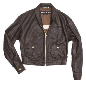 Dark Brown Waxed Cotton Bomber