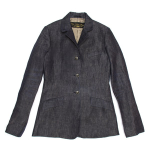 Dark Blue Denim Blazer