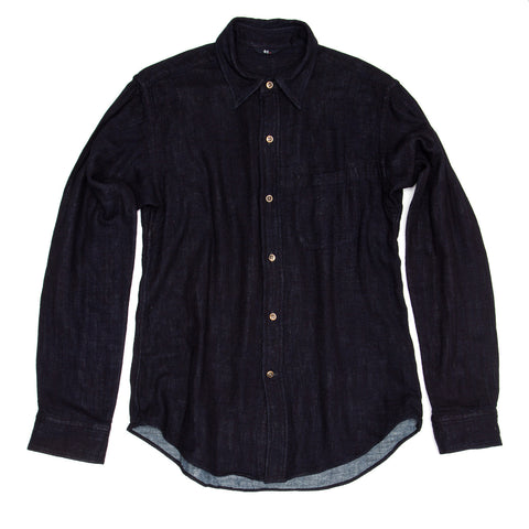 45 RPM Dark Blue Cotton Shirt For Man, size 4